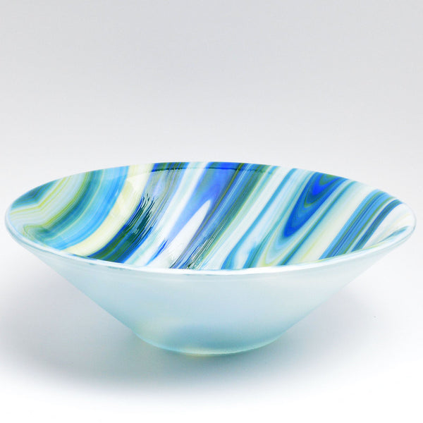 Large Fused Glass Deep Bowl