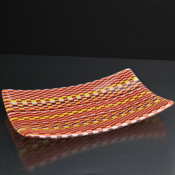 Bargello Glass Large Sushi Dish | Interior Design Aceent Piece