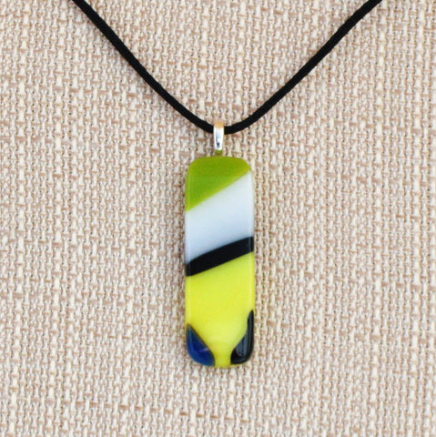 Jewelry Fused Glass Color Flow Pendant | Unique Gifts Under $30