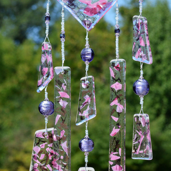 Hand Beaded Fused Glass Wind Chimes | The Glass Rainbow