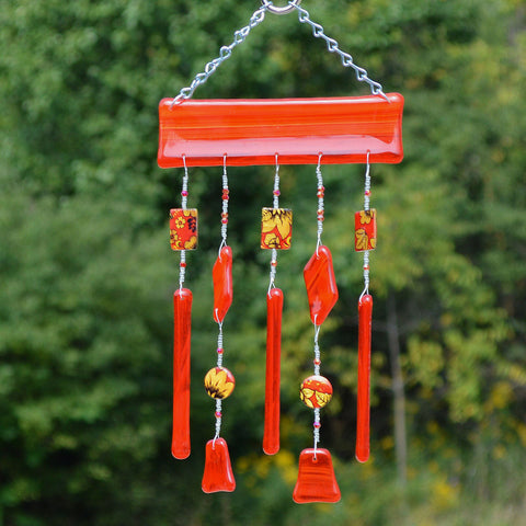 Hand Crafted Fused Glass Wind Chimes | Unique Gifts for Every Occasion