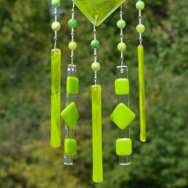 Hand Beaded Fused Glass Wind Chimes Make the Perfect Gift