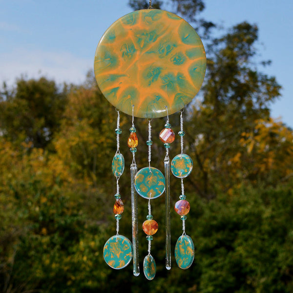 Hand Painted Glass Wind Chimes | Gifts for every season