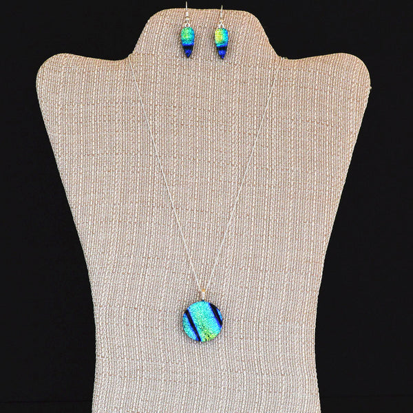 Hand-crafted Fused Glass Pendant and Earring Set | The Glass Rainbow