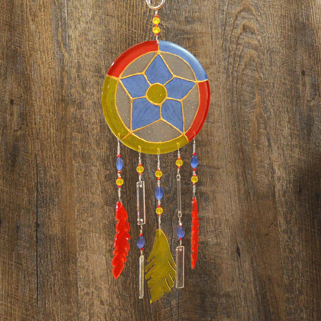 Fused Glass Dream Catcher | The Glass Rainbow