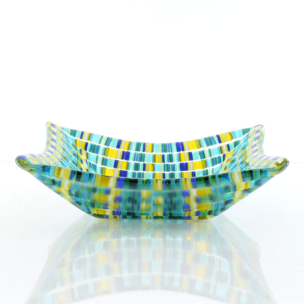Tapestry Fused Glass Decorative Dish