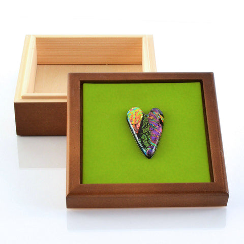 Keepsake Box with Fused Glass Inset