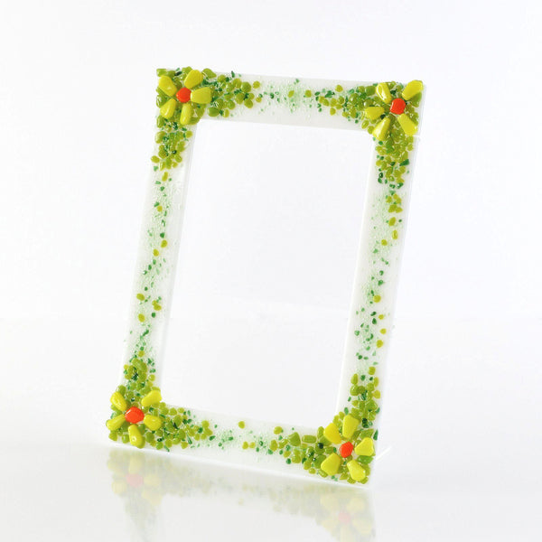 Frames - Fused Glass Spring Flowers 5 x 7 Picture / Photo Frame
