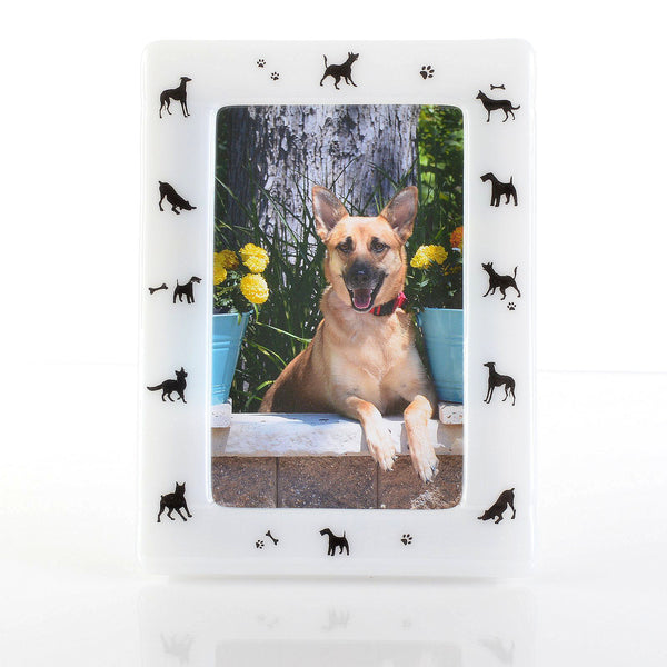 Fused Glass Photo Frame for Dog Lovers Everywhere