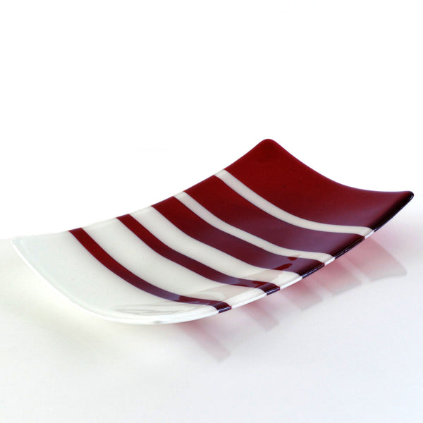 Fused Glass Fibonacci Pattern Large Sushi Plate | The Glass Rainbow
