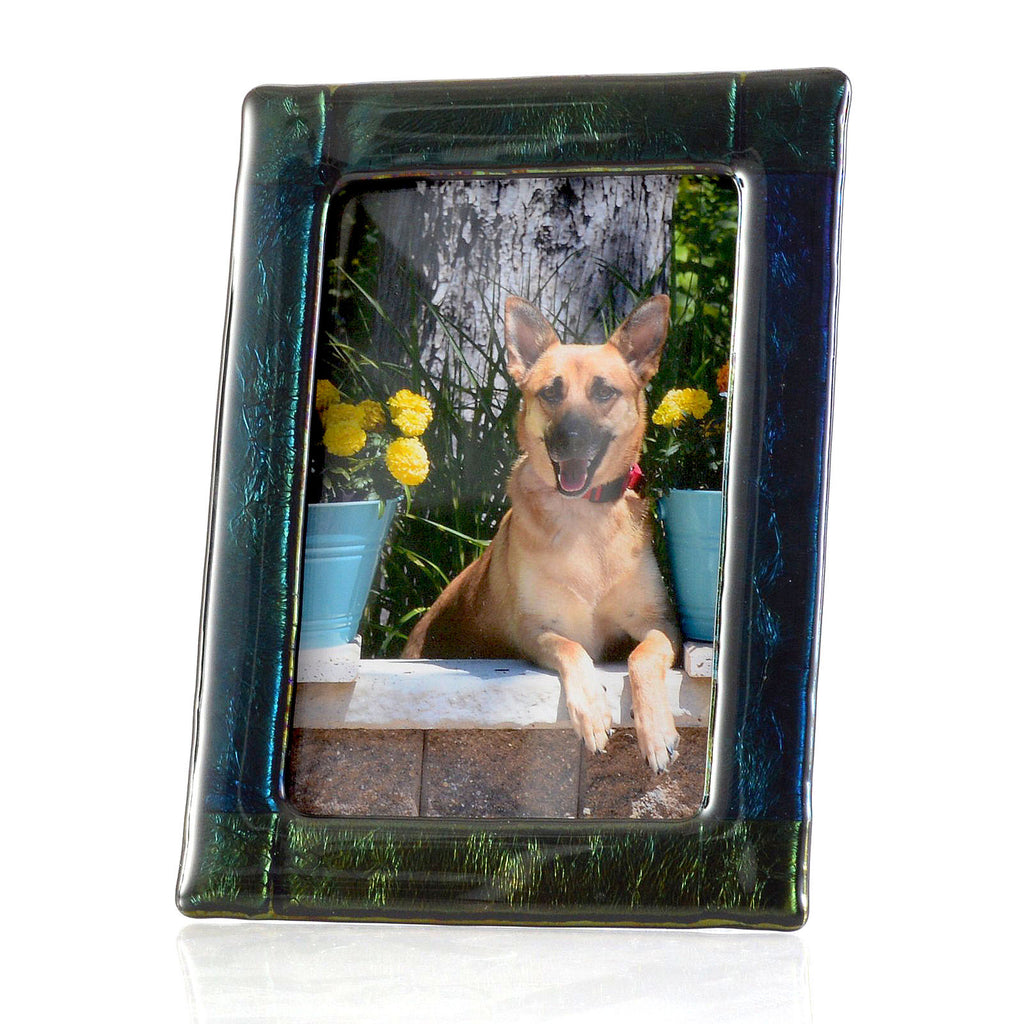 Luminescent Fused Glass 5 x 7 Picture / Photo Frame | Custom Made Glass Gifts