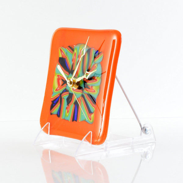Fused Glass Abstract Clock | The Glass Rainbow
