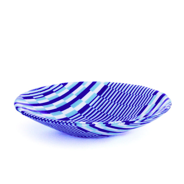 Custom Fused Glass Bargello Decorative Serving Bowl | The Glass Rainbow