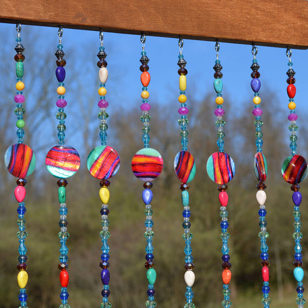 Beaded Curtain Sun Catcher Wind Chime | Unique Gifts for Mom