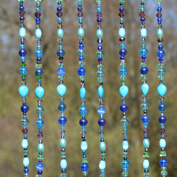 Fused Glass Wind Chime Beaded Curtain | The Glass Rainbow