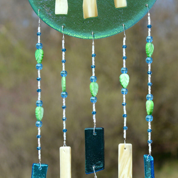 Fused Glass Wind Chimes at The Glass Rainbow
