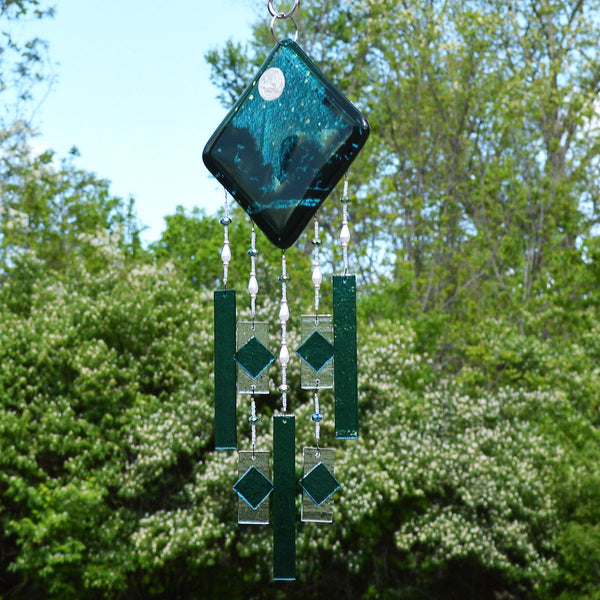 Glass Wind Chimes Evening Sky Starry Nights