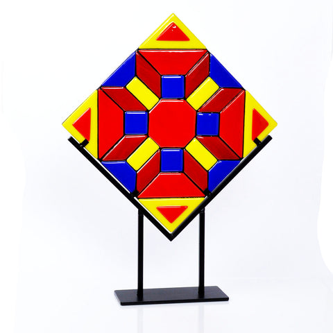 3-D Fused Glass Mosaic Art Panel | Unique Glass Art Design
