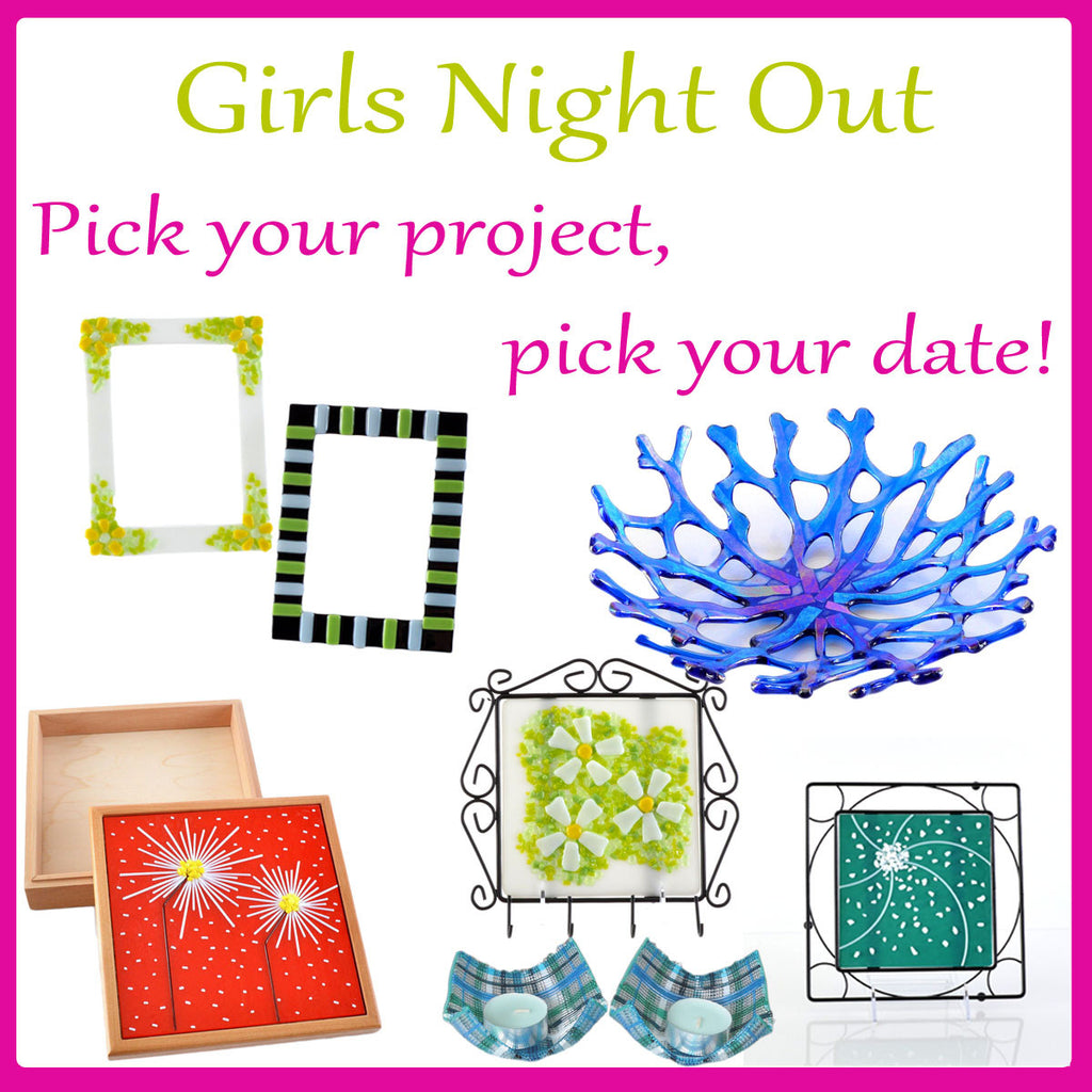Girls Night Out in Cincinnati Fused Glass Classes | The Glass Rainbow