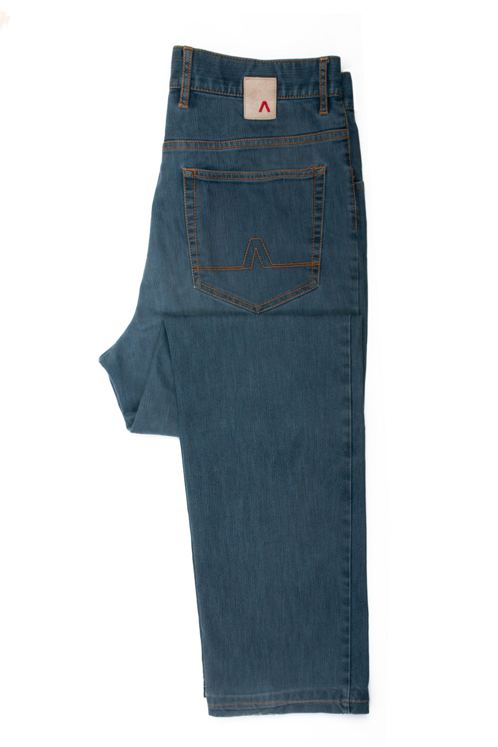 Alberto Slate Blue Tommy Coolmax Denim Jeans for Luxmrkt.com Menswear Consignment Edmonton