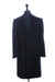 Brioni Black Pinstriped Cashmere Blend Rabbi Coat