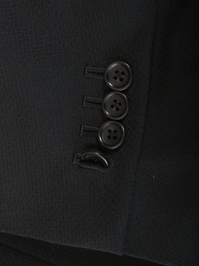 Coppley Black Crosshatch Weave Alden Suit