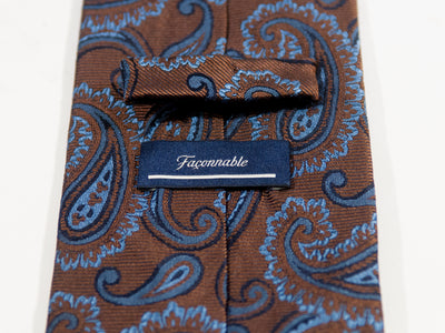 Faconnable Brown Paisley Tie