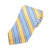Brooks Brothers Pale Blue on Yellow Stripe Italian Silk Tie for Luxmrkt.com Menswear Consignment Edmonton