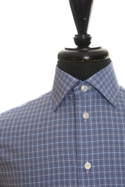 Eton NWT Grey Check Contemporary Fit Shirt for Luxmrkt.com Menswear Consignment Edmonton