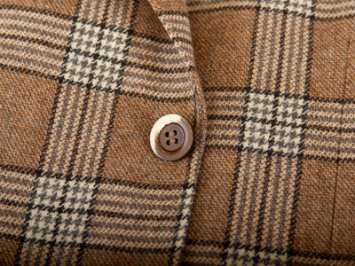 Canali Brown Check Wool Kei Blazer for Luxmrkt.com Menswear Consignment Edmonton