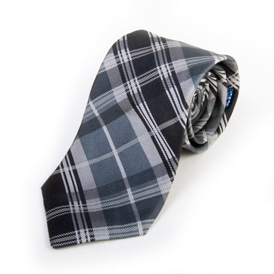 Ted Baker Grey Plaid Silk Tie for Luxmrkt.com Menswear Consignment Edmonton