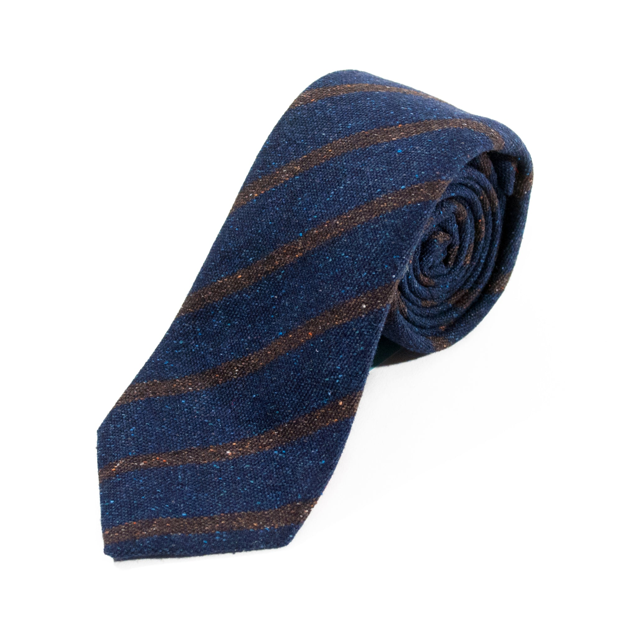 Isaia Navy Blue Striped Tie NWT