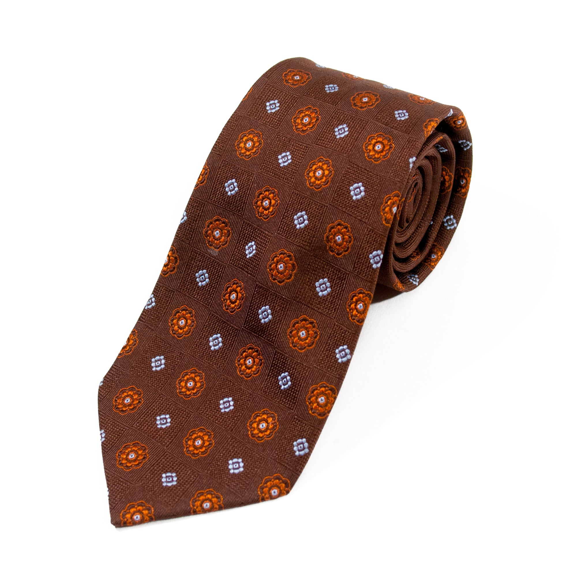 Braemore Brown Geometric Tie