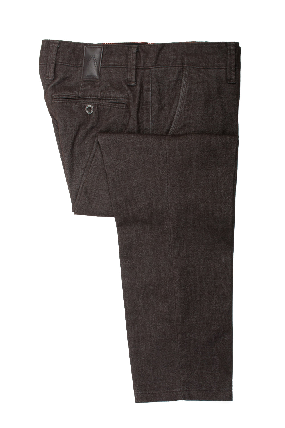 Alberto Brown Lou Regular Slim Fit Cotton Tweed Pants for Luxmrkt.com Menswear Consignment Edmonton
