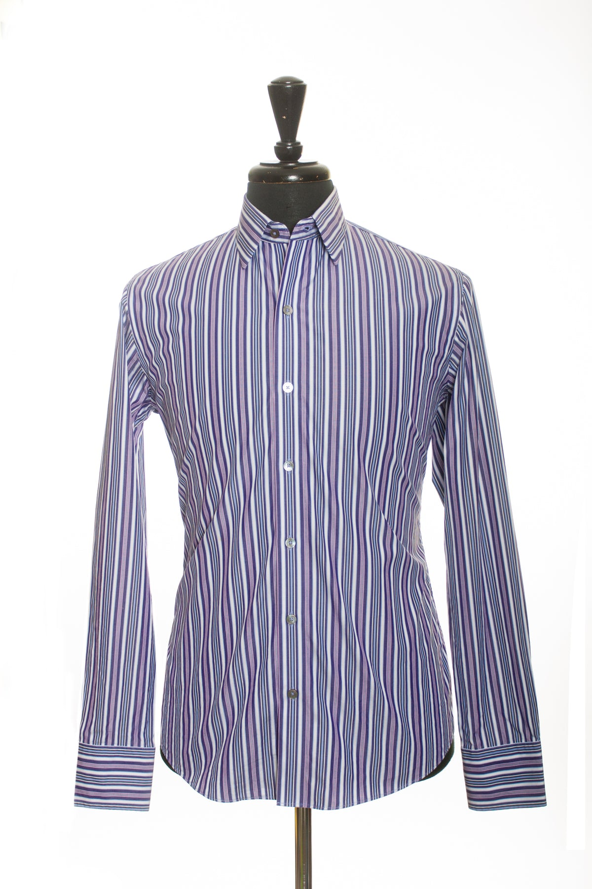 Zachary Prell Purple Striped Shirt