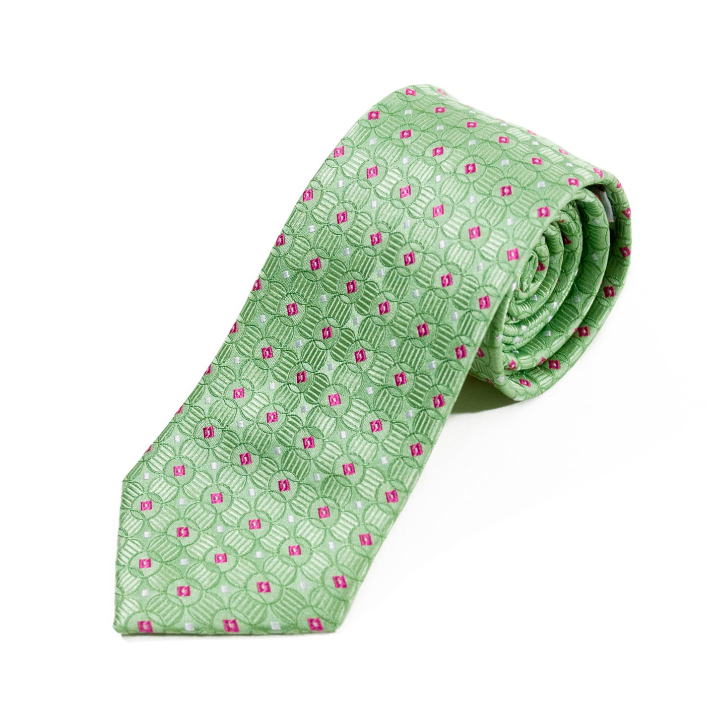 Ateseta Light Green Geometric Tie