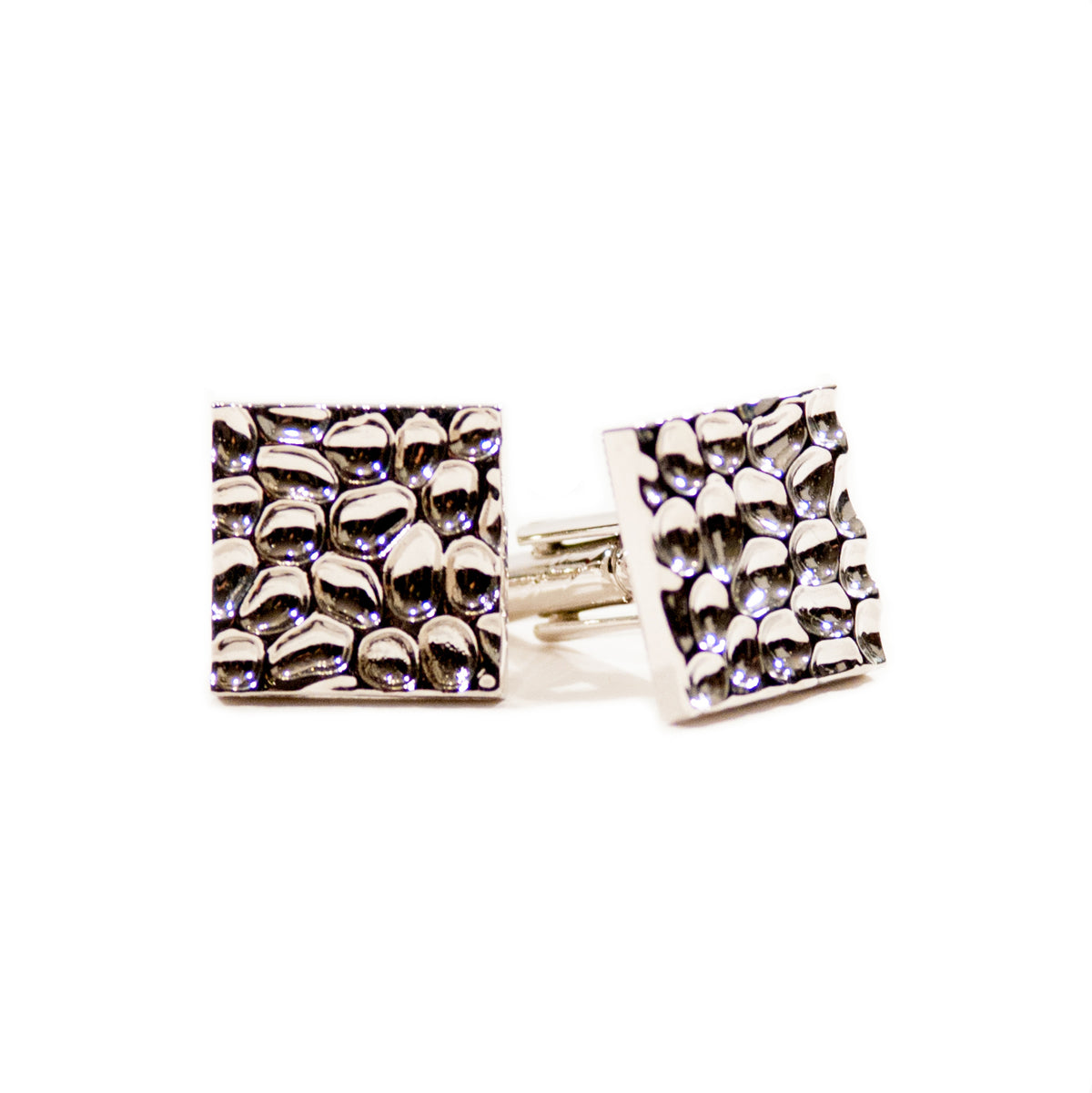 Textured Metal Alloy Square Cufflinks for Luxmrkt.com Menswear Consignment Edmonton