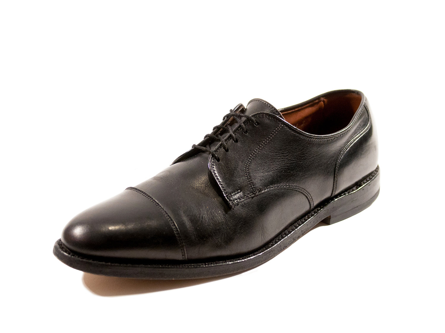Allen Edmonds Black Margate Cap Toe Oxfords. Luxmrkt.com menswear consignment Edmonton.