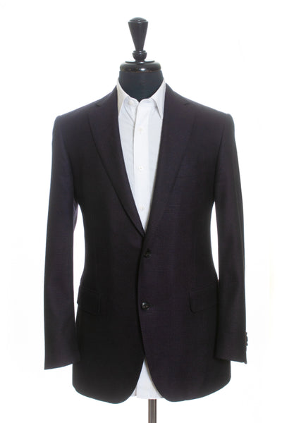 Pal Zileri Plum Step Weave Slim Fit Wool Blazer for Luxmrkt.com Menswear Consignment Edmonton