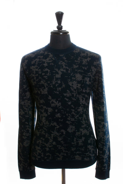 Ted Baker NWT Blue Patterned Sweater for Luxmrkt.com Menswear Consignment Edmonton