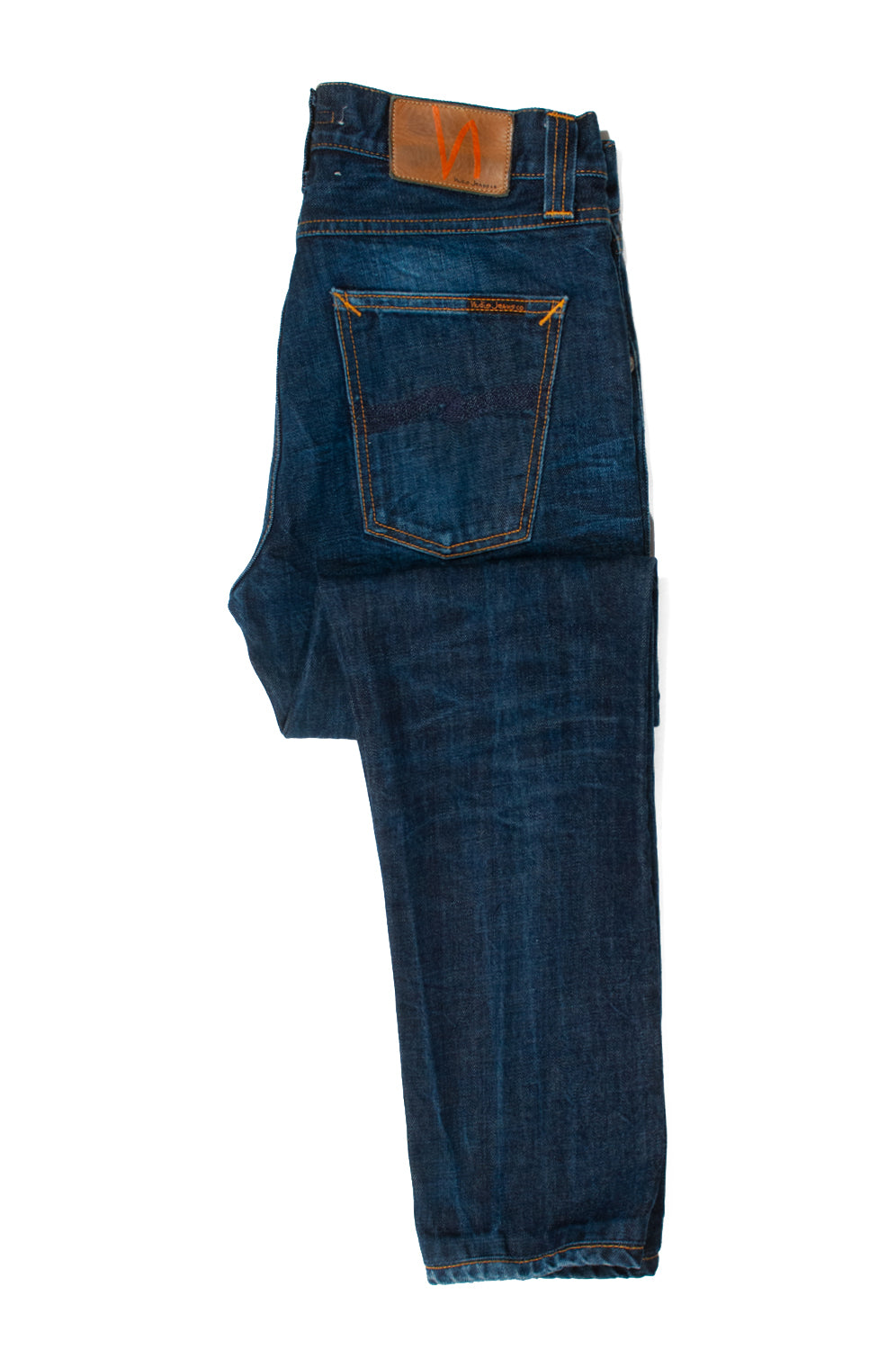 Nudie Big Bengt Dark Crinkle Jeans for Luxmrkt.com Menswear Consignment Edmonton