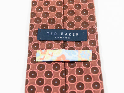 Ted Baker Bronze Geometric Patterned Tie for Luxmrkt.com Menswear Consignment Edmonton