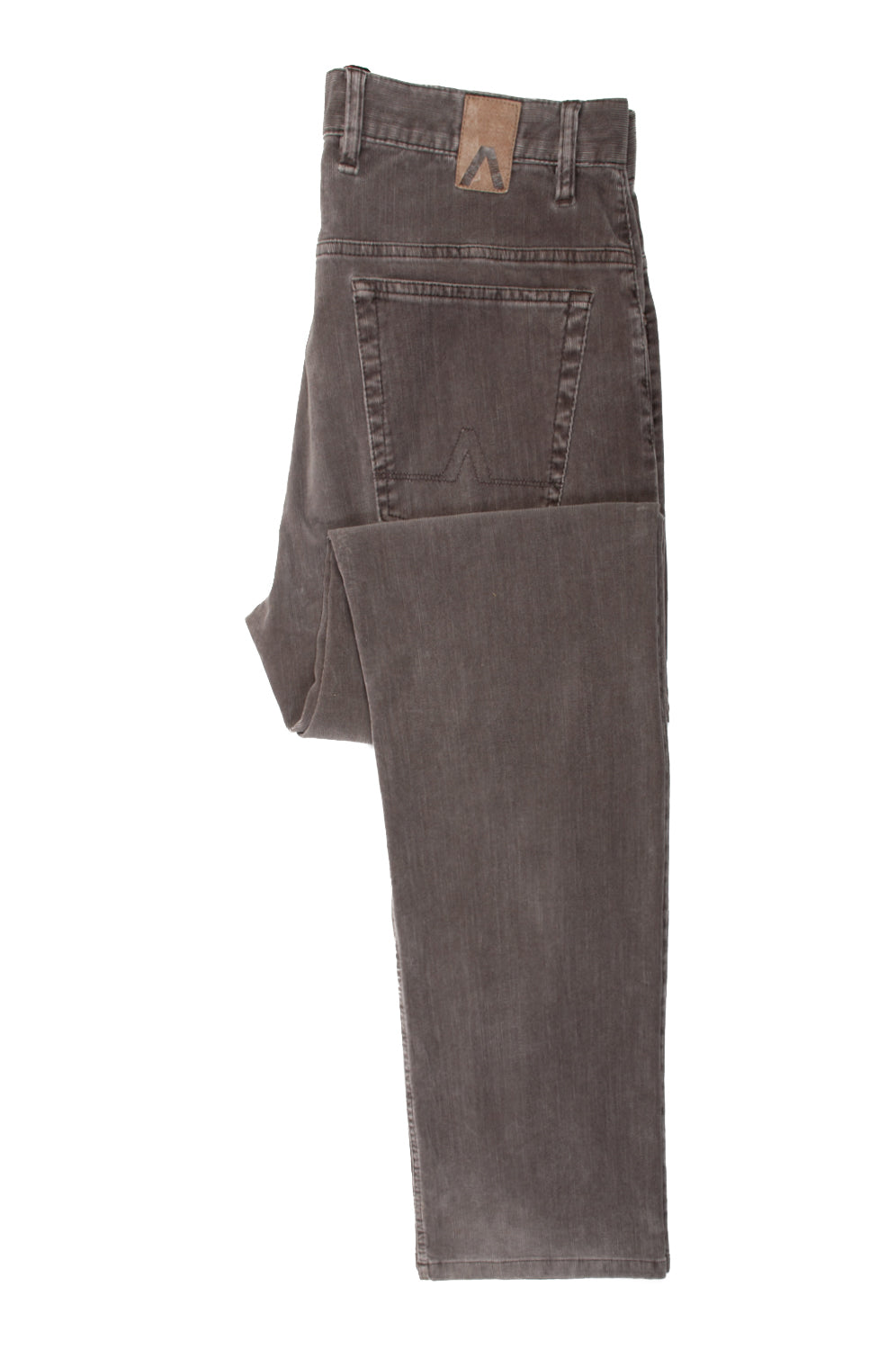 Alberto Desert Grey Rock Stretch Corduroy Pants for Luxmrkt.com Menswear Consignment Edmonton