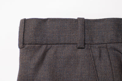 Antonio Valente Charcoal Grey Trim Fit Wool Trousers