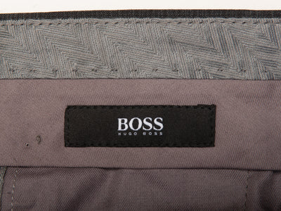 Hugo Boss Grey Check Shark1 Trousers for Luxmrkt.com Menswear Consignment Edmonton