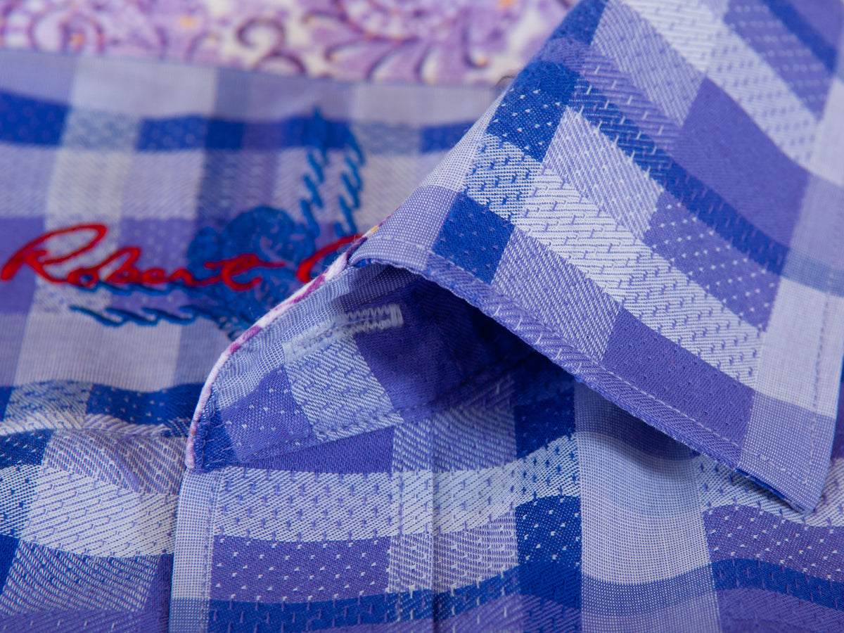 Robert Graham Purple Check Shirt for Luxmrkt.com Menswear Consignment Edmonton