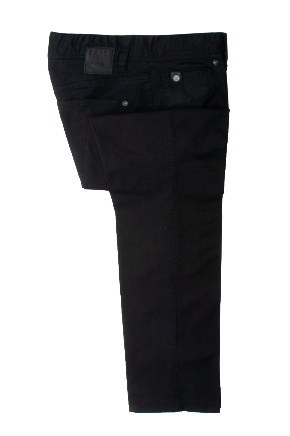 Alberto Black Stone Mini Structure Modern Fit Chinos for Luxmrkt.com Menswear Consignment Edmonton