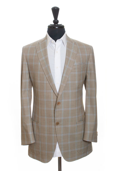 Coppley Light Desert Brown Check Croydon Blazer for Luxmrkt.com Menswear Consignment Edmonton