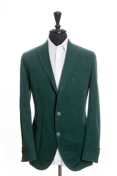 Boglioli Jungle Green Linen Blend Blazer for Luxmrkt.com Menswear Consignment Edmonton