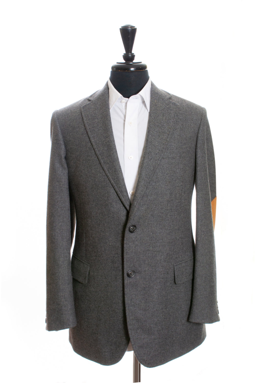 Faconnable Grey Cashmere Blend Tweed Blazer